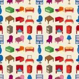Seamless Furniture pattern Royalty Free Stock Photos