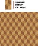 seamless fyrkant för brun modell stock illustrationer