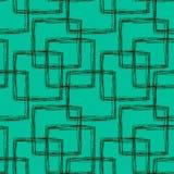 seamless fyrkanter för klottermodell royaltyfri illustrationer