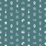 Seamless gadgets background texture Royalty Free Stock Images