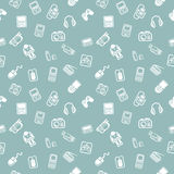 Seamless gadgets background texture Stock Photo
