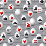 Seamless  gambling background with red and black symbols  Royalty Free Stock Images