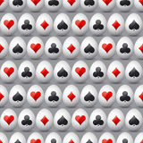 Seamless  gambling background with red and black symbols Royalty Free Stock Image