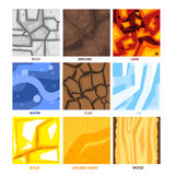 Seamless Game Patterns Set Royalty Free Stock Photography
