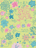 Seamless garden pattern Stock Photos