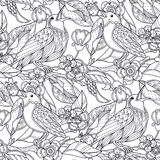 Seamless garden pattern Royalty Free Stock Photos