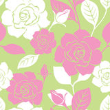 Seamless Garden Rose Pattern Stock Image