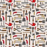 Seamless garden tool pattern. Vector drawing Stock Photography