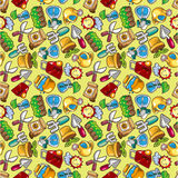 Seamless  gardening pattern Royalty Free Stock Photos
