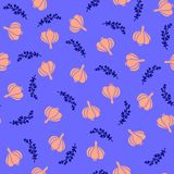 Seamless garlic pattern stock illustration