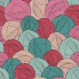 Seamless garnbollmodell vektor illustrationer