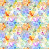 Seamless geametrical background colorful texture pattern Stock Photo