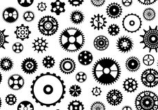 Seamless Gear Background Stock Photos