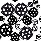 Seamless gear and cogwheel background Royalty Free Stock Image