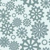 Seamless gear pattern royalty free illustration