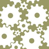 Seamless gear pattern Stock Photo