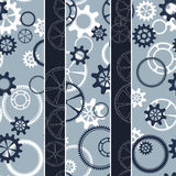Seamless gear pattern Royalty Free Stock Image
