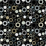 Seamless gear pattern Stock Image