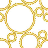 Seamless gear pattern Stock Photography