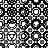 Seamless Gear Patterns Set. A collection of 4 seamless gear patterns that tile/repeat nicely. Included in the zip file are each of the 4 patterns saved off as an Royalty Free Stock Photo