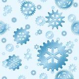Seamless gear snowfall Royalty Free Stock Photo