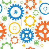 Seamless gear vector Royalty Free Stock Image