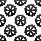 Seamless gears pattern Royalty Free Stock Image