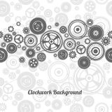 Seamless gearwheel mechanism background Stock Images