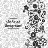 Seamless gearwheel mechanism background Stock Photography