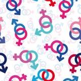Seamless gender background Stock Image