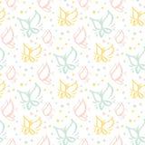Seamless gentle pattern Stock Photo