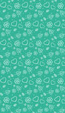 Seamless gentle pattern Stock Image