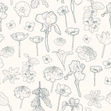 Seamless gentle vintage floral pattern Royalty Free Stock Image