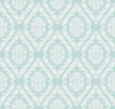 Seamless gently-blue retro damask Wallpaper for design. Royalty Free Stock Images
