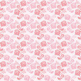 Seamless gently-pink wallpaper with roses. Stock Images
