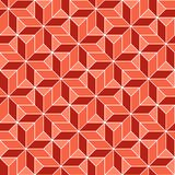 Seamless geometric 3d abstract pattern. Colorful vector illustration Stock Photography