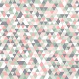 Geometric mosaic pattern pastel colors pink grey white green triangle Stock Photo