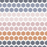 Seamless Geometric Abstract Pattern from Colorful Hexagons Stock Photos