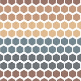 Seamless Geometric Abstract Pattern from Colorful Hexagons Royalty Free Stock Images