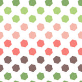 Seamless Geometric Abstract Pattern from Colorful Hexagons Stock Photo