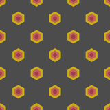 Seamless Geometric Abstract Pattern from Colorful Hexagons Royalty Free Stock Photography