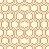 Seamless geometric abstract pattern of colorful hexagons. Royalty Free Stock Photos