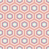 Seamless geometric abstract pattern of colorful hexagons. Stock Image