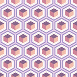 Seamless geometric abstract pattern of colorful hexagons. Set of seamless geometric abstract patterns of colorful hexagons. Retro colors. Fashion geometrical Stock Image
