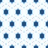 Seamless geometric abstract pattern of colorful hexagons. Stock Photo