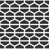 Seamless geometric abstract pattern of hexagons, divided into tw. O parts. Fashion geometrical pattern. For fashion textile, cloth, backgrounds. Vector Royalty Free Illustration