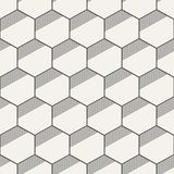 Seamless geometric abstract patterns of hexagons. Seamless geometric abstract pattern of hexagons. Fashion geometrical pattern. For fashion textile, cloth Stock Photography