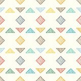 Seamless geometric abstract pattern. Vector illustration. Stock Image