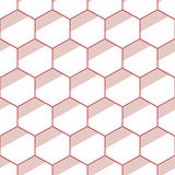 Seamless geometric abstract patterns of color hexagons. Retro colors. Fashion geometrical pattern. For fashion textile, cloth, backgrounds. Vector background Stock Image