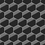 Seamless geometric abstract patterns of hexagons. Seamless geometric abstract pattern of hexagons. Fashion geometrical pattern. For fashion textile, cloth Royalty Free Stock Images